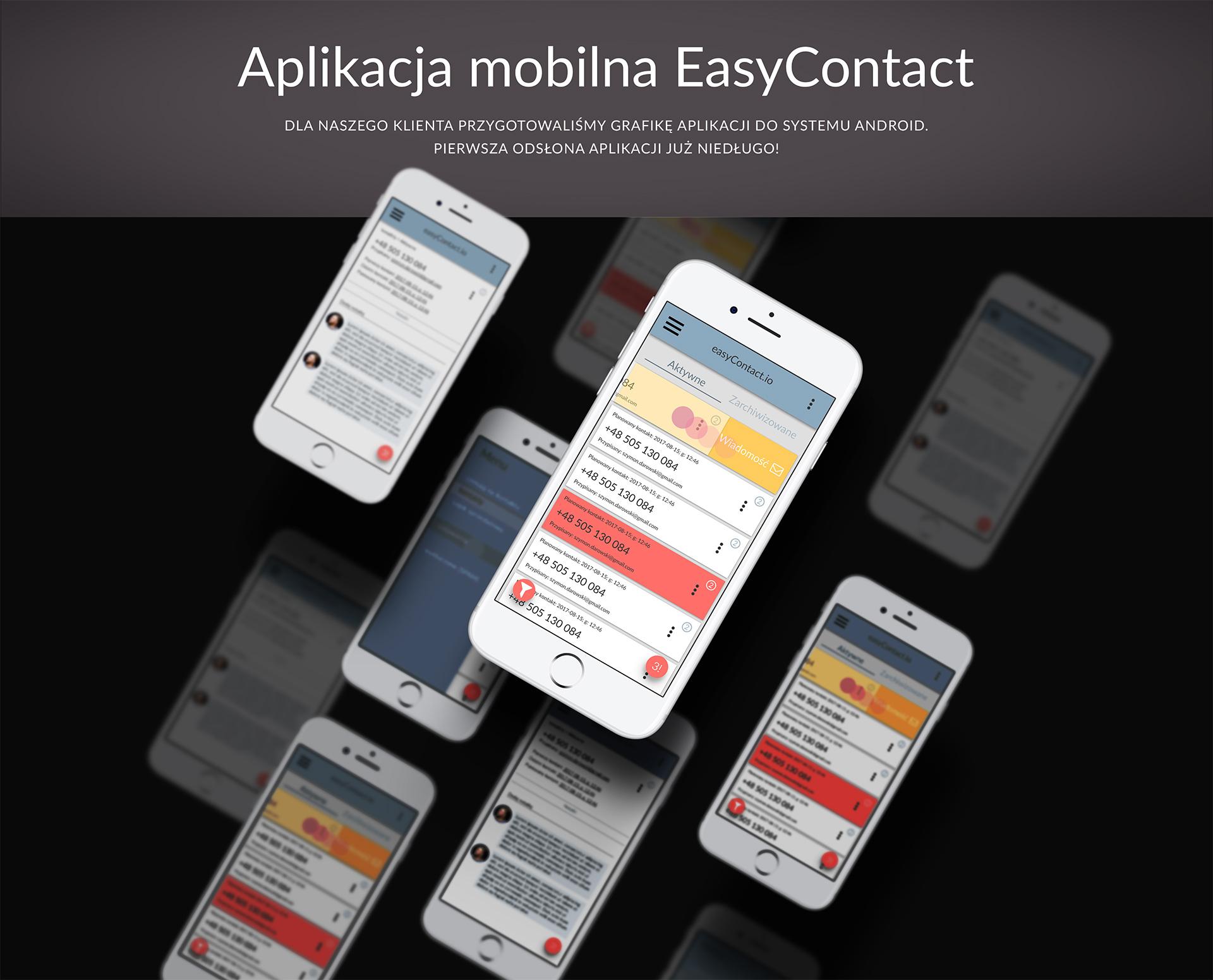 Aplikacja mobilna EasyContact.io
