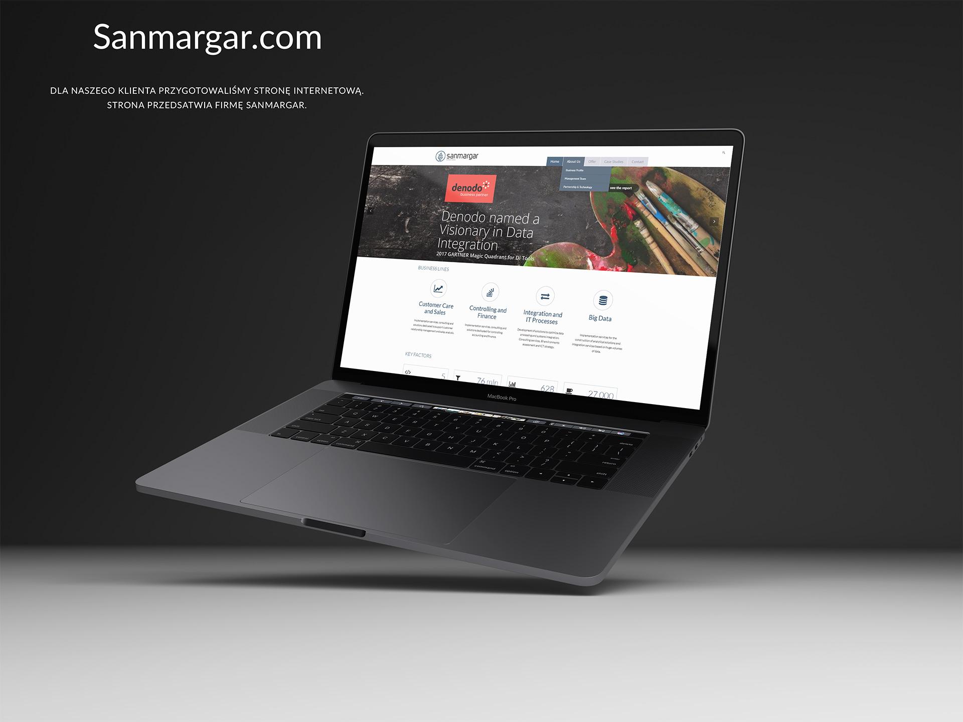 Strona www dla Sanmargar.pl
